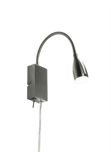 Dar Uno Led Flexi Reading Lt Satin Chrome Plug In UNO0746